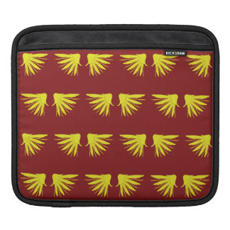 Wings Yellow Red Sleeves For iPads
