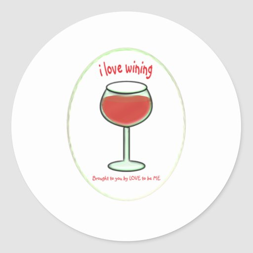 WINING - LOVE TO BE ME.png Classic Round Sticker