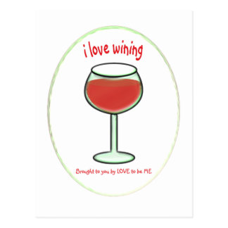 WINING - LOVE TO BE ME.png Postcard