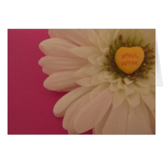 Wink Conversation Heart Card