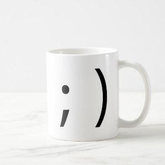 wink face! coffee mug