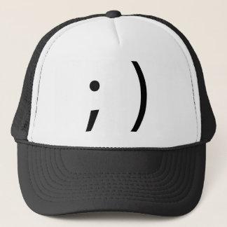wink face! trucker hat