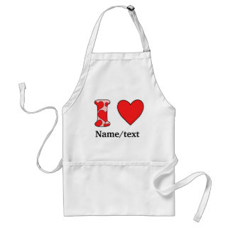 Wink i love costomized adult apron