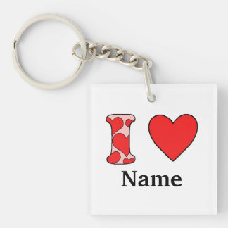 Wink i love costomized keychain