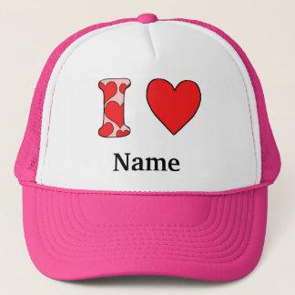 Wink i love costomized trucker hat