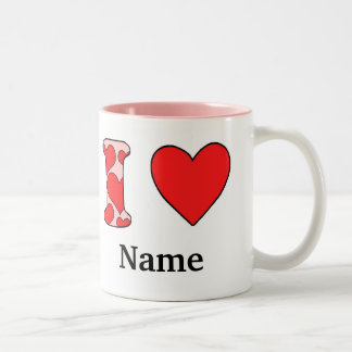 Wink I love costomized Two-Tone Coffee Mug