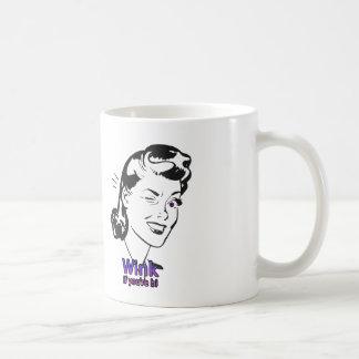 Wink if you re bi mug