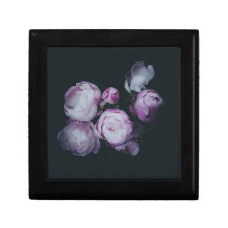 Wink Rose Buds dark background Keepsake Box