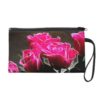 wink roses wristlet purse