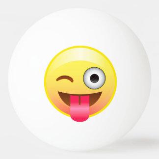 Wink Tongue Out Emoji Smile Ping Pong Ball