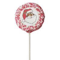 Winking Black Santa Keeping Christmas Secrets Chocolate Dipped Oreo