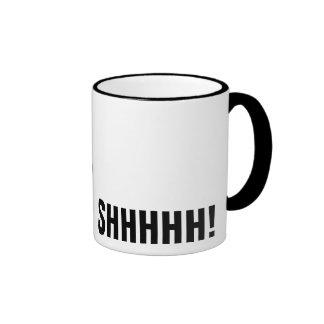 Winking Black Santa Keeping Christmas Secrets Coffee Mug
