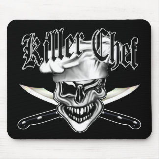 Winking Chef Skull 7 Mouse Pad