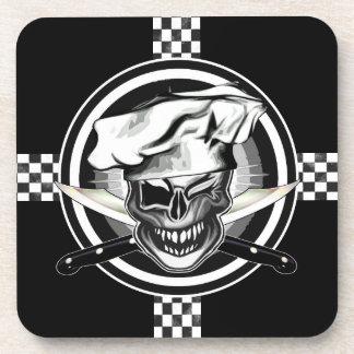 Winking Chef Skull Beverage Coaster