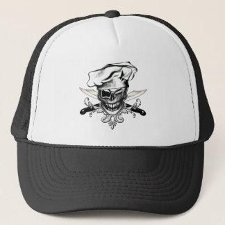 Winking Chef Skull Trucker Hat