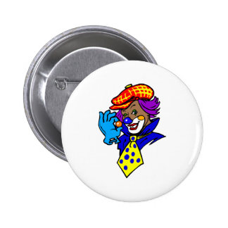 Winking Clown with Marble Button