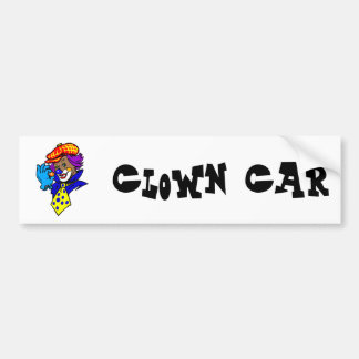 Winking Clown with Marble Car Bumper Sticker