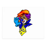 Winking Clown with Marble Postcard