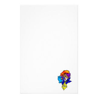 Winking Clown with Marble Stationery