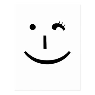 winking emoticon - a fun way to say hi postcard