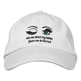 Winking Eyelash hat Embroidered Baseball Caps