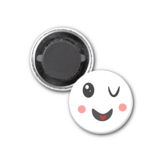 winking Face cute kawaii Magnet