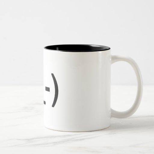 Winking face mug (two tone)