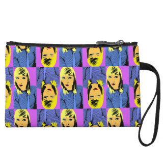 Winking Friend pop art Wristlet Wallet