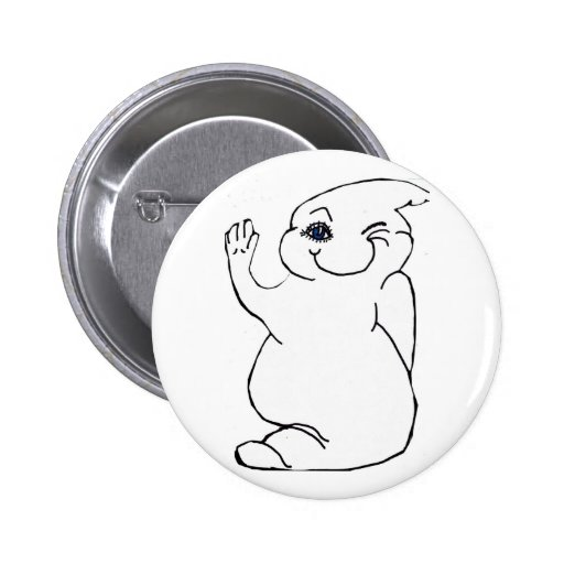 WINKING  GHOST button
