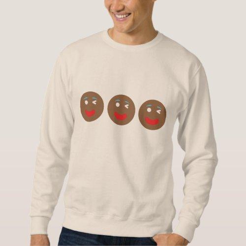 Winking Gingerbread Emoji's Sweatshirt After Christmas Sales 3362