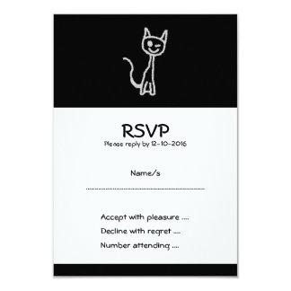 Winking Gray Cat. Card