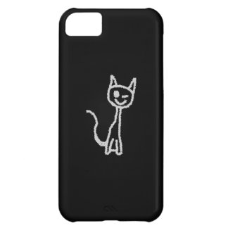 Winking Gray Cat. Case For iPhone 5C