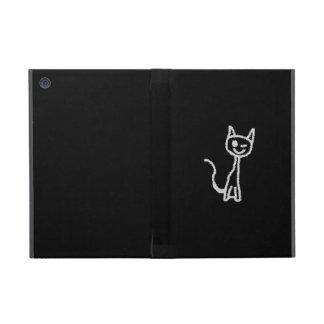 Winking Gray Cat. Cases For iPad Mini