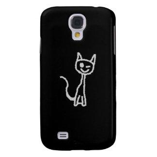 Winking Gray Cat. Galaxy S4 Cases