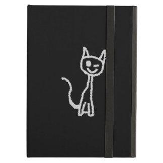 Winking Gray Cat. iPad Air Cover