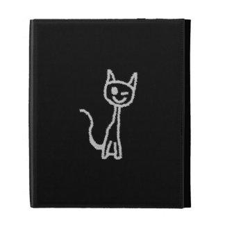 Winking Gray Cat. iPad Folio Case