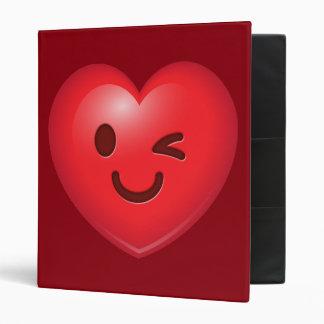 WInking Heart Emoji Binder