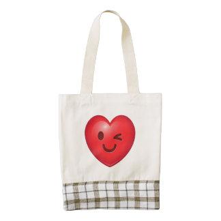 WInking Heart Emoji Zazzle HEART Tote Bag