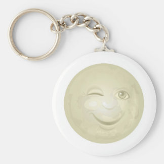 Winking Honeymoon Face Keychain