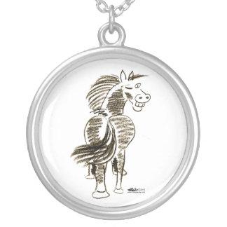 Winking Horse Good Luck! Custom Necklace