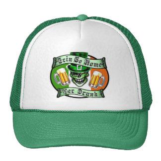 Winking Leprechaun Skull: Erin Go Home Trucker Hat