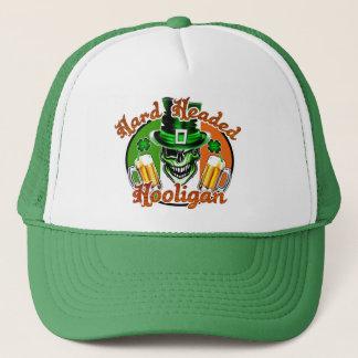 Winking Leprechaun Skull: Hard Headed Hooligan Trucker Hat