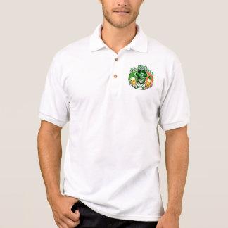 Winking Leprechaun Skull: Shenanigans 2 Polo Shirt