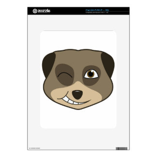 Winking meerkat design skins for the iPad