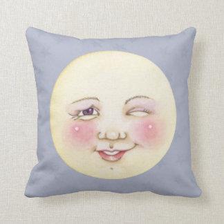 Winking Moon - Pillow