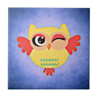 Winking Owl Ceramic Tile