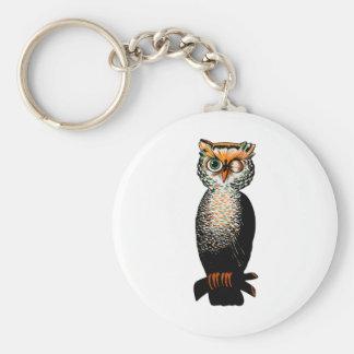 Winking Owl Keychain
