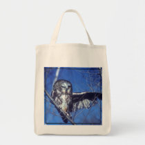 Winking owl tote bag