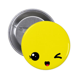 Winking Pinback Buttons