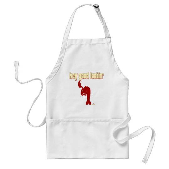 Winking Red Lobster Hey Good Lookin' Adult Apron
